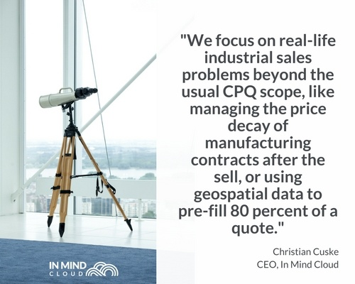 Focus on real life manufacturing sales problems | In Mind Cloud