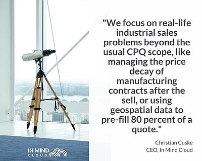 Focus on real life manufacturing sales problems   In Mind Cloud