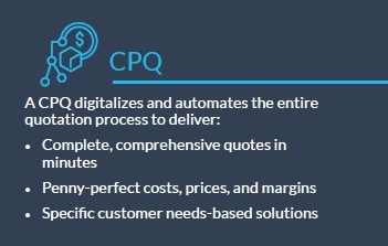 Infobox: Elements of a digital sales platform for manufacturing - CPQ Configure-Price-Quote explained