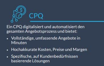 Infobox: CPQ – Konfiguration, Preisgestaltung, Angebotserstellung für die Industrie