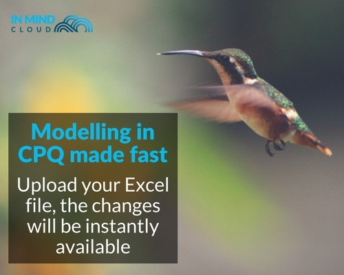 Modelling in CPQ Configure Price Quote made fast via Excel