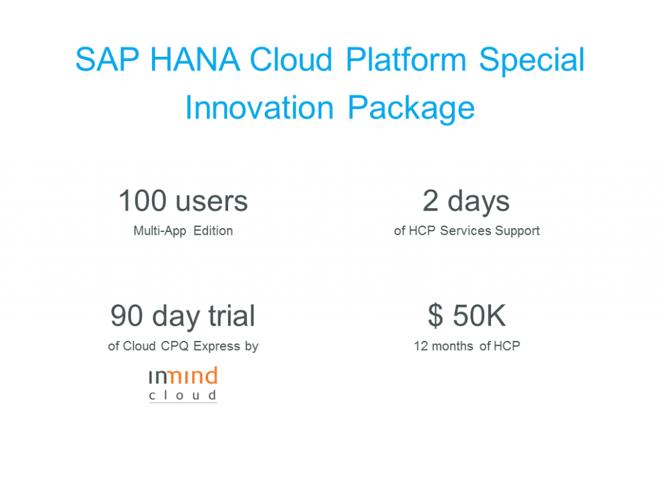 SAP HANA Cloud Platform Special Promo