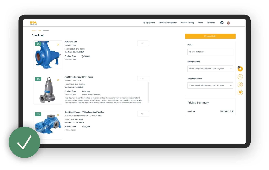 Example of In Mind Cloud Online Sales Portal