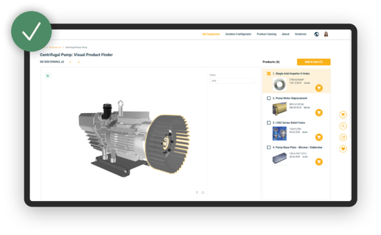 Example of In Mind Cloud configuration through visual product finder