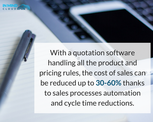 with a quotation software handing all the product and pricing rules, the cost of sales can be reducced up to 30-60 thanks to sales processes automation and cycke time reductions.png
