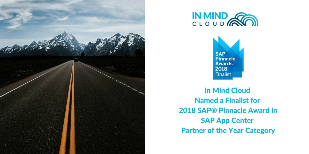 In Mind Cloud Named a Finalist for 2018 SAP® Pinnacle Award in SAP App Center Partner of the Year Category