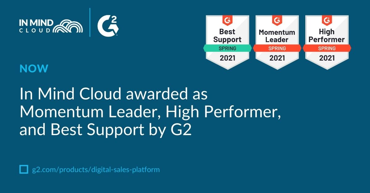 In Mind Cloud awarded as Momentum Leader, High Performer, and Best Support by G2